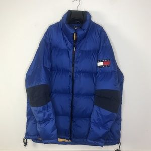 Tommy Jeans Mens Down Filled Puffer Jacket Blue XX